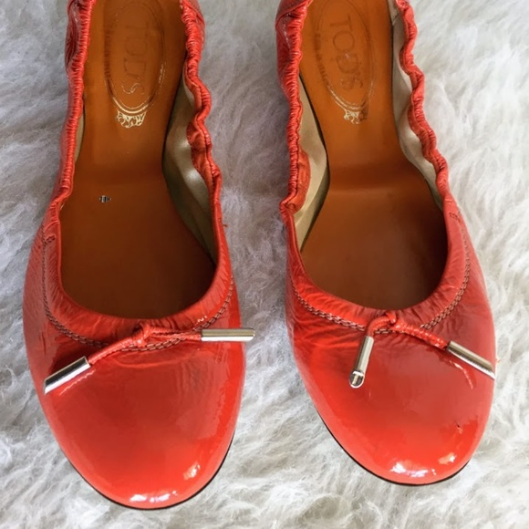 896067155542 Tod s Ballet Flats Dee Orange Bow Women s Size 8.  M 5adced49caab448448d86bd5. Other Shoes ...